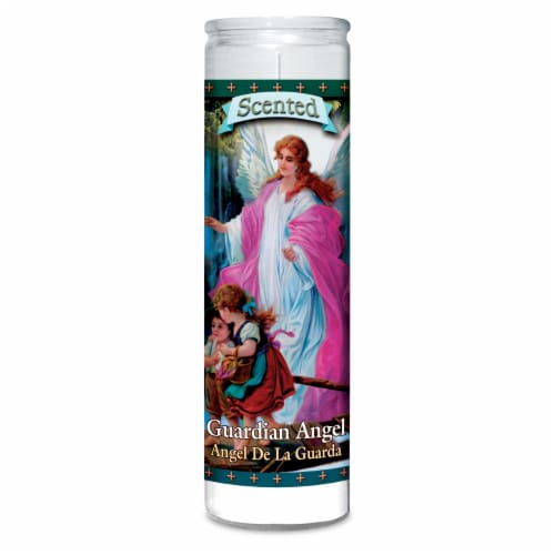 St. Jude Candle Company Guardian Angel Jar Candle - White Perspective: front