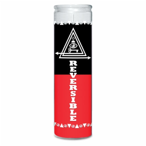 St. Jude Candle Company Double Action Reversible Candle - Red/Black Perspective: front