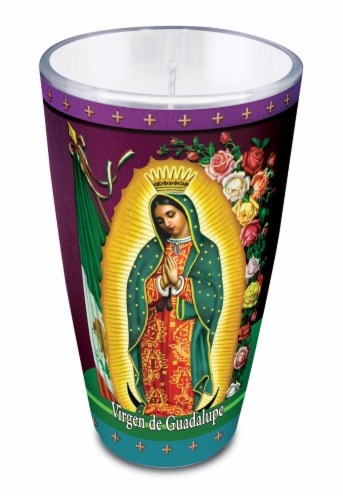 St. Jude Candle Company Virgin de Guadalupe Drinking Glass Candle Perspective: front