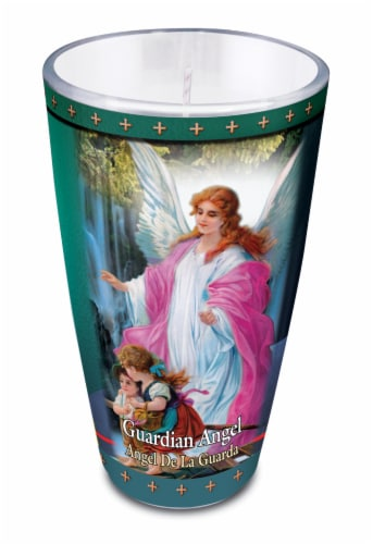 St. Jude Candle Company Guardian Angel Drinking Glass Candle Perspective: front