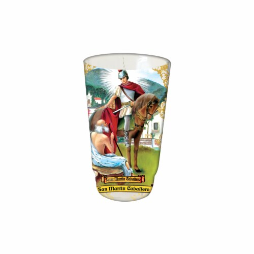 St. Jude Candle Company San Martin Caballero Drinking Glass Candle Perspective: front