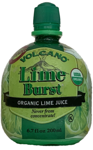 Volcano Lime Burst Organic Lime Juice Perspective: front
