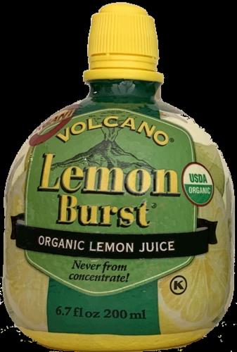 Volcano Lemon Burst Organic Lemon Juice Perspective: front