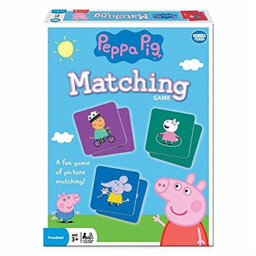 Wonder Forge 30363725 Peppa Pig Matching Game Perspective: front