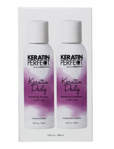 Keratin Perfect Daily Shampoo and Conditioner Travel Duo Pack Perspective: front
