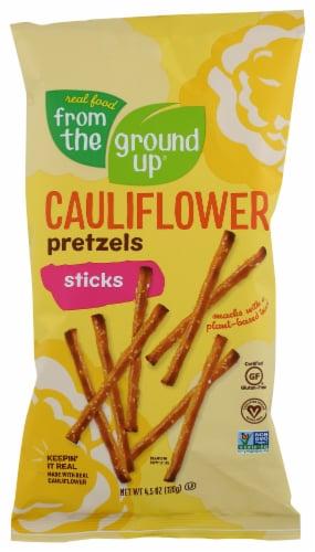 From the Ground Up Original Cauliflower Pretzel Sticks Snacks Perspective: front