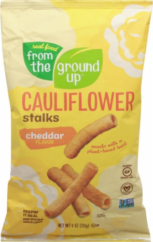 From The Ground Up Cheddar Flavored Cauliflower Stalks Snacks Perspective: front