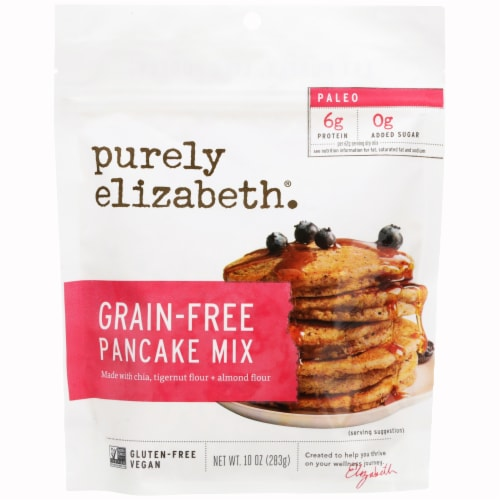 Purely Elizabeth Paleo Grain-Free Pancake Mix Perspective: front