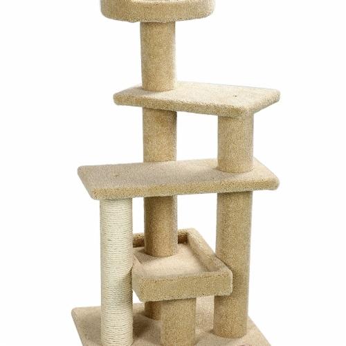 Go Pet Club LP-815 51 in. Premium Carpeted Cat Tree Furniture, Beige Perspective: front