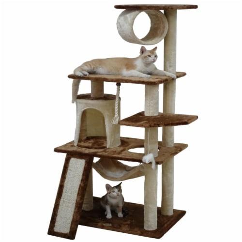 Go Pet Club F712 53 in. Kitten Cat Tree Perspective: front