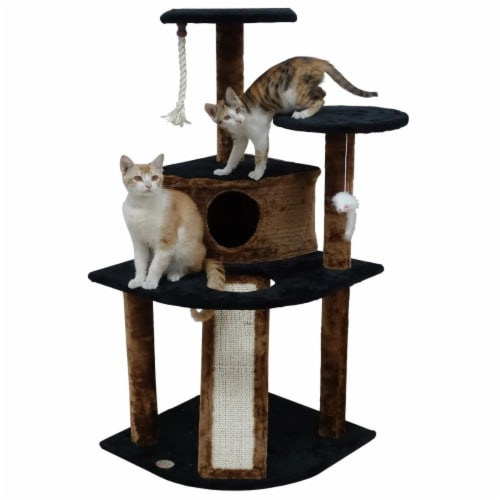 Go Pet Club F713 47 in. Kitten Cat Tree Perspective: front