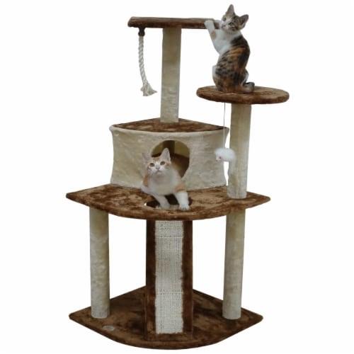 Go Pet Club F714 47 in. Kitten Cat Tree Perspective: front