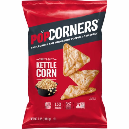 Popcorners Sweet and Salty Kettle Corn Gluten Free Popped Corn Snacks Perspective: front