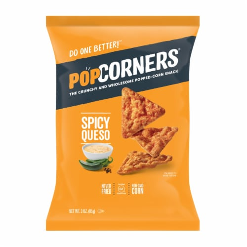 PopCorners® Spicy Queso Popped-Corn Snack Perspective: front