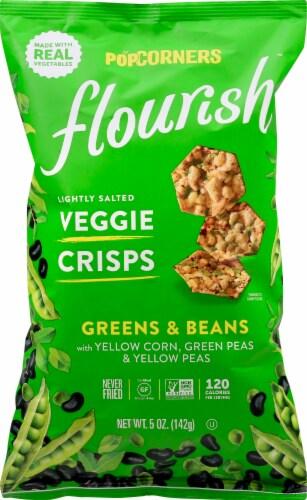 Popcorners Flourish Greens & Beans Lightly Salted Veggie Crisps 5 oz Perspective: front