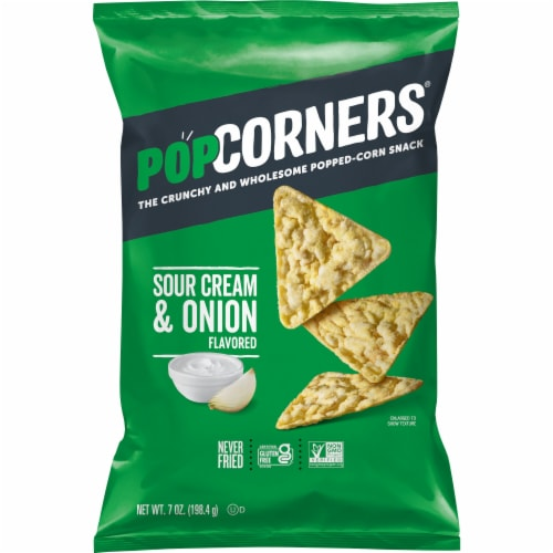 PopCorners Gluten-Free Sour Cream & Onion Popped Corn Snacks Perspective: front