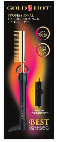 Gold 'N Hot 24K Gold Pressing and Styling Comb Perspective: front