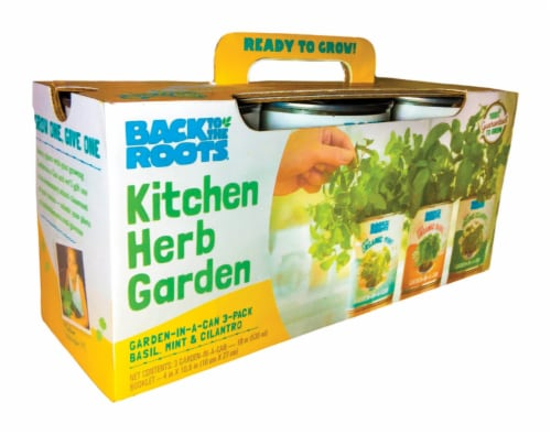 Back To The Roots Kitchen Herb Garden Grow Kit 3 pk - Case Of: 1; Each Pack Qty: 3; Total Perspective: front