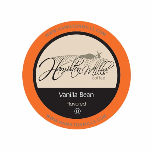Hamilton Mills Vanilla Bean Coffee Pods, 2.0 Keurig K-Cup Brewer Compatible, 40 Count Perspective: front