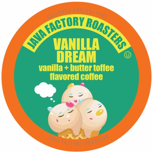 Java Factory Single Cup Coffee for Keurig K Cup Brewers, Vanilla Dream, 40 Count Perspective: front