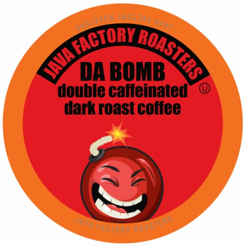 Java Factory Extra Bold Double Caffinated Coffee Pods, Da Bomb, 80 Count Perspective: front