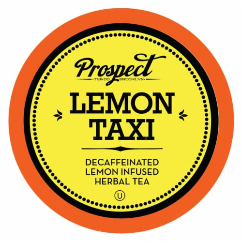 Prospect Tea Decaffeinated Lemon Taxi Herbal Tea Pods for Keurig K-Cup Makers, 40 Count Perspective: front