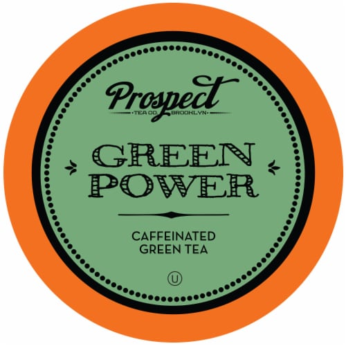 Prospect Tea Green Power Caffeinated Tea Pods for Keurig K-Cup Makers, 40 Count Perspective: front