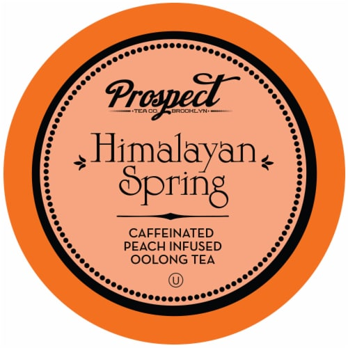 Prospect Tea Himalayan Spring Peach Infused Oolong Tea Pods for Keurig K-Cup Makers, 40 Count Perspective: front