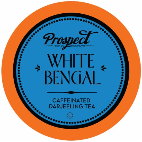 Prospect Tea White Bengal Darjeeling Tea Pods for Keurig K-Cup Brewers, 40 Count Perspective: front