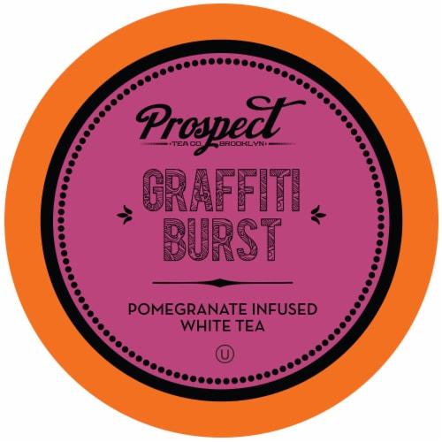 Prospect Tea Pomegranate White Tea Pods for Keurig K-Cup Makers, Graffiti Burst, 40 count Perspective: front