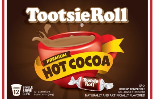 Tootsie Roll Hot Cocoa Single Serve Cups Perspective: front