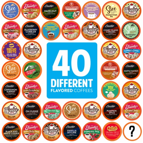 Two Rivers Flavored K-Cups, Coffee Pods Variety Pack for Keurig K-Cup 40 Count Perspective: front