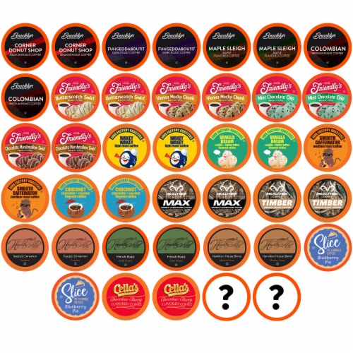 Two Rivers Coffee Pods for Keurig 2.0,  Coffee Lovers Variety Pack, 40 Count Perspective: front