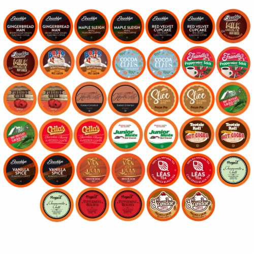 Two Rivers Holiday Flavors Variety Pack, Compatible with 2.0 Keurig K-Cup Brewers, 40 Count Perspective: front
