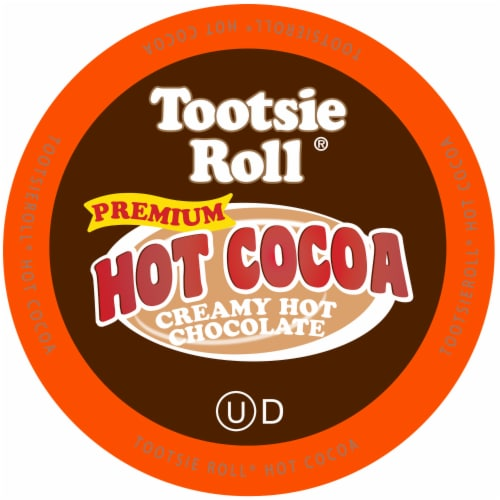 Tootsie Roll Hot Cocoa Pods for Keurig K-Cups Brewer, Hot Chocolate, 40 Count Perspective: front