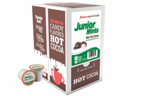 JUNIOR MINTS Chocolate Mint Hot Cocoa Pods for Keurig K-Cup Makers, 40 Ct K-Cups Perspective: front