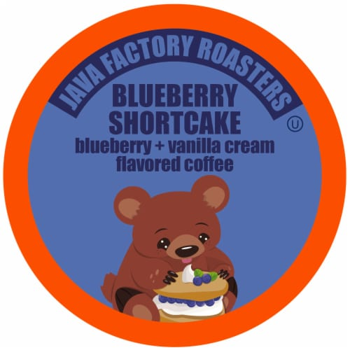 Java Factory Blueberry Shortcake Single-Cup Coffee for Keurig K-Cup Brewers, 40 Count Perspective: front