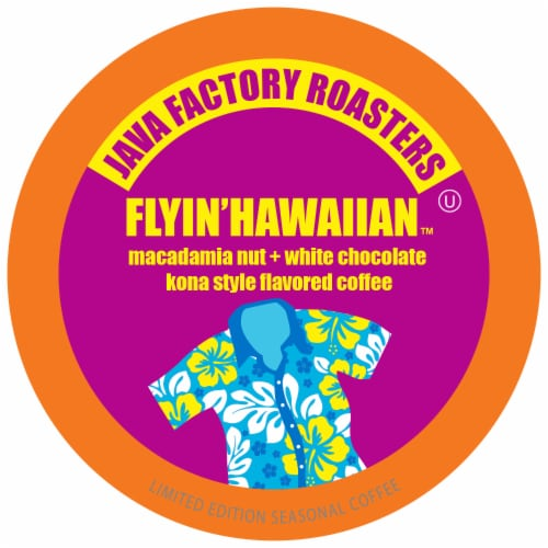 Java Factory Single-Cup Coffee for Keurig K-Cup Brewers, Flyin' Hawaiian, 40 Count Perspective: front
