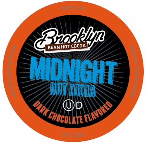Brooklyn Beans Midnight Dark Chocolate Hot Cocoa Pods, Keurig K-Cups Brewer, 40 Count Perspective: front