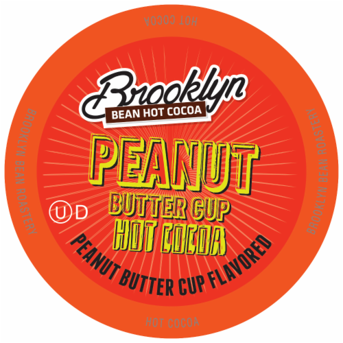 Brooklyn Beans Peanut Butter Chocolate Hot Cocoa Pods for Keurig K-Cups Maker, 40 Count Perspective: front