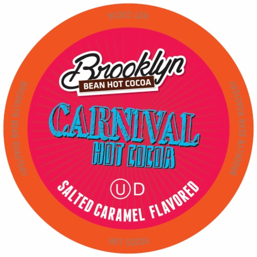 Brooklyn Beans Flavored Hot Cocoa Pods, Carnival Chocolate Salted Caramel, 40 Count Perspective: front