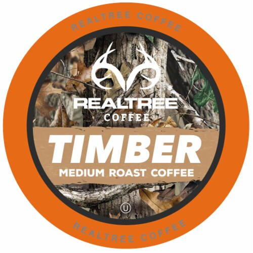 Realtree Timber Meduim Roast Coffee Pods for Keurig K-Cup Brewers, 40 Count Perspective: front