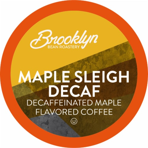 Brooklyn Beans Maple Sleigh Decaf Coffee Pods, Compatible with 2.0 K-Cup Brewers, 40 Count Perspective: front