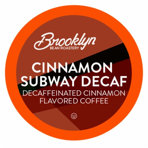 Brooklyn Beans Cinnamon Flavored DECAF Coffee Pods for Kkeurig 2.0, Cinnamon Subway, 40 Count Perspective: front