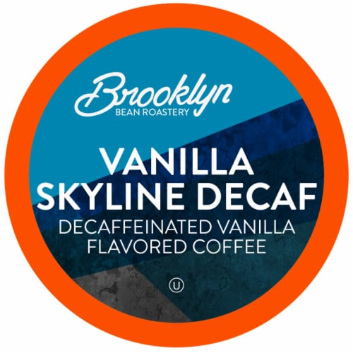 Brooklyn Beans Vanilla Skyline Decaf Coffee Pods, Compatible with 2.0 K-Cup Brewers, 40 Count Perspective: front