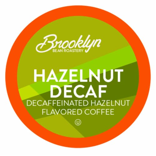 Brooklyn Beans Hazelnut Decaf Coffee Pods, Compatible with 2.0 K-Cup Brewers, 40 Count Perspective: front