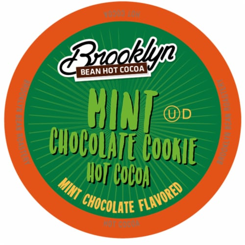 Brooklyn Bean Hot Cocoa Pods for Keuirg K-Cup Brewers, Mint Chocolate Cookie, 40 Count Perspective: front