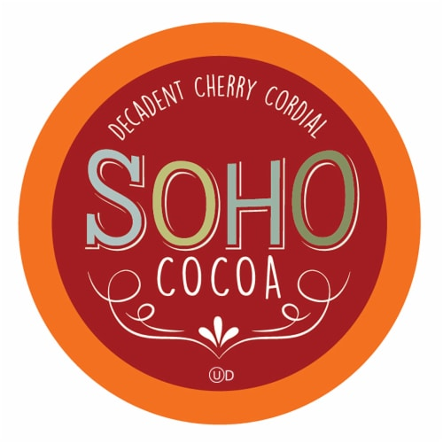Soho Cherry Cordial Hot Chocolate Pods for Keurig K-Cup Brewers, 40 Count Perspective: front