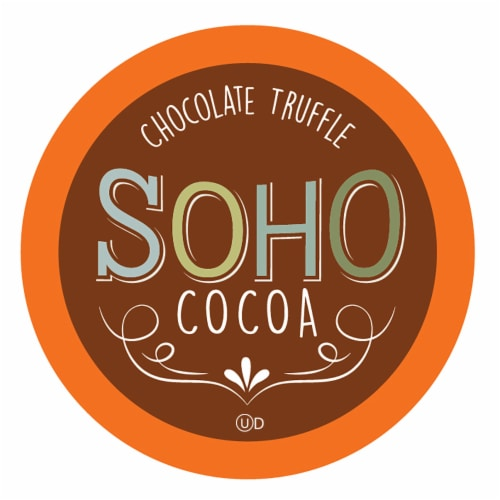 Soho Chocolate Truffle Hot Chocolate Pods for Keurig K-Cup Brewers, 40 Count Perspective: front