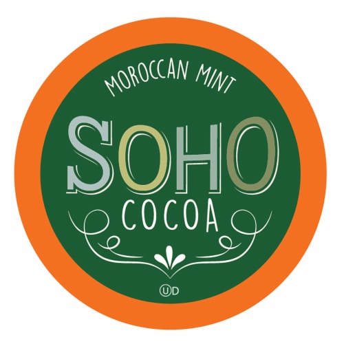 Soho Morocan Mint Hot Chocolate Pods for Keurig K-Cup Brewers, 40 Count Perspective: front